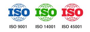 ISO 9001, ISO 14001, ISO 45001